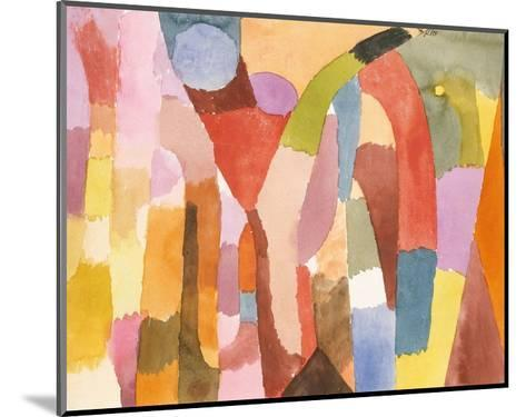 Movement of Vaulted Chambers, 1915-Paul Klee-Mounted Art Print