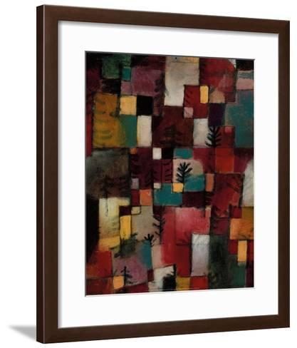 Redgreen and Violet-Yellow Rhythms, 1920-Paul Klee-Framed Art Print