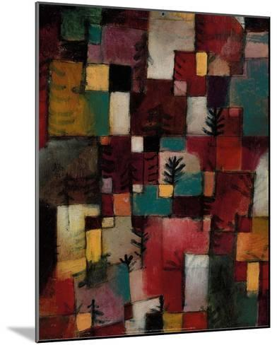 Redgreen and Violet-Yellow Rhythms, 1920-Paul Klee-Mounted Art Print