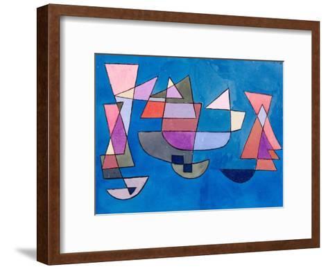 Sailing Boats, 1927-Paul Klee-Framed Art Print