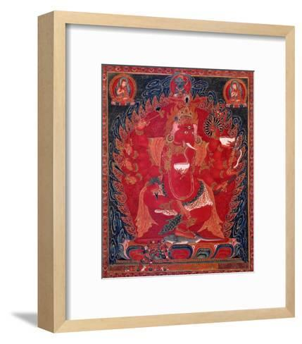 Dancing Red Ganapati of the Three Red Deities, 15-16th c-Unknown-Framed Art Print