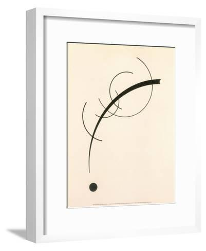 Free Curve to the Point - Accompanying Sound of Geometric Curves, 1925-Wassily Kandinsky-Framed Art Print