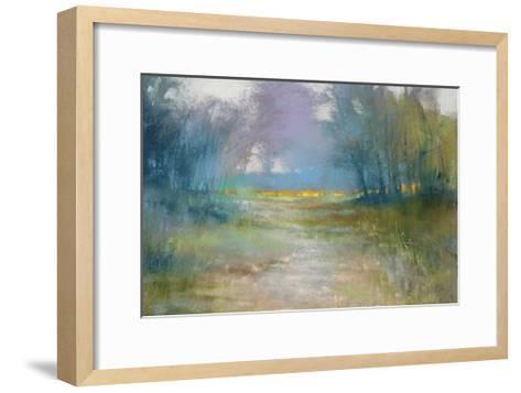 Dappled path-Barbara Newton-Framed Art Print