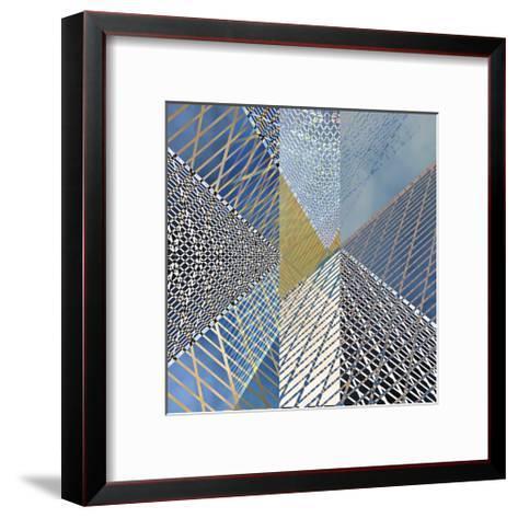 Steel And Sky 3-Carla West-Framed Art Print