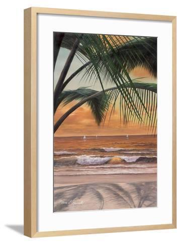 Paradiso Sunset-Diane Romanello-Framed Art Print