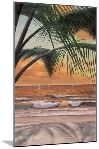 Paradiso Sunset-Diane Romanello-Mounted Art Print