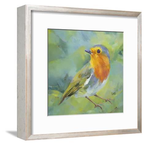 Garden Robin-Sarah Simpson-Framed Art Print