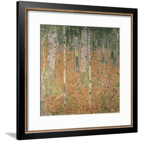 The Birch Wood-Gustav Klimt-Framed Art Print