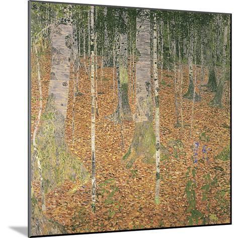The Birch Wood-Gustav Klimt-Mounted Giclee Print