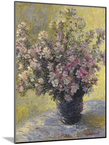 Vase Of Flowers-Claude Monet-Mounted Giclee Print