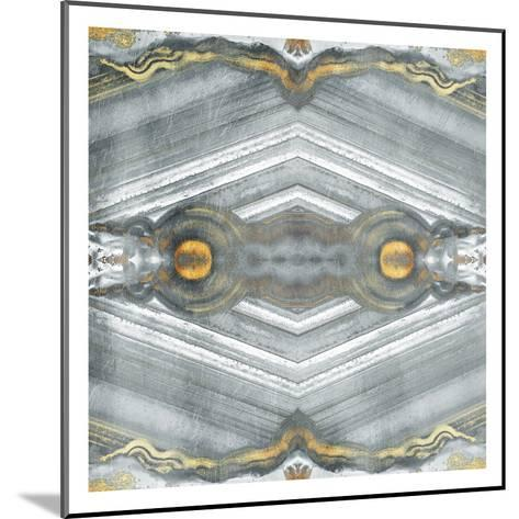 Kaleidoscope Gold And Grey-Jace Grey-Mounted Art Print