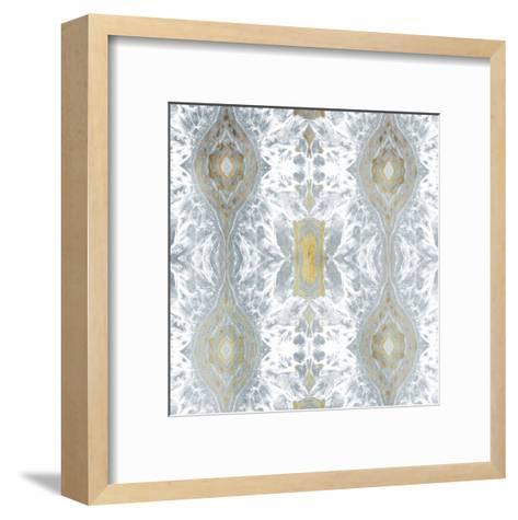 Kscope Grey Gold-Jace Grey-Framed Art Print