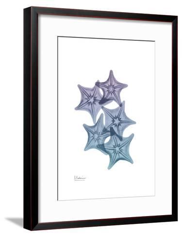 Lavender Splashed Starfish 1-Albert Koetsier-Framed Art Print