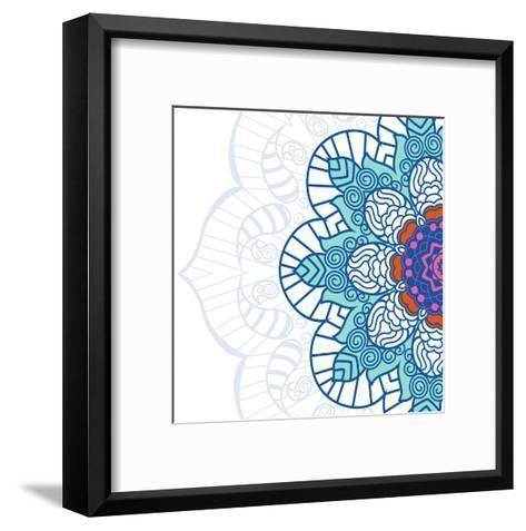 Growing Right-Jace Grey-Framed Art Print