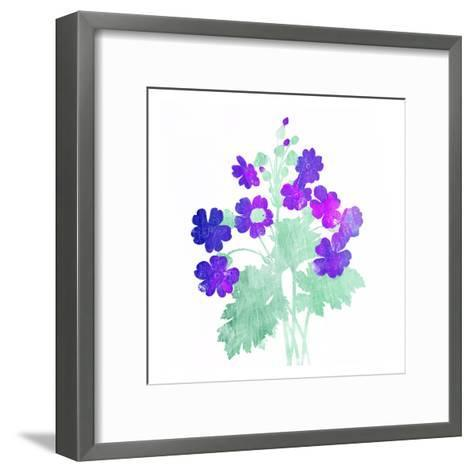 Watered Down Purple-Jace Grey-Framed Art Print