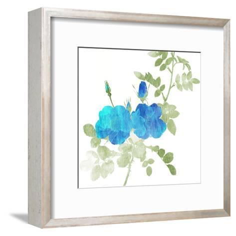 Watered Down Blue-Jace Grey-Framed Art Print