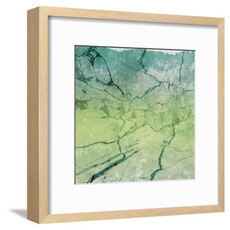 Marble Soft Sea-Jace Grey-Framed Art Print