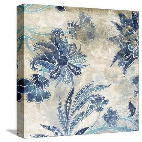 Floral Sky-Jace Grey-Stretched Canvas Print