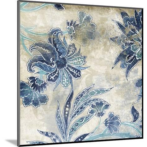 Floral Sky-Jace Grey-Mounted Art Print