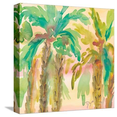 Sunset Palms 1-Beverly Dyer-Stretched Canvas Print