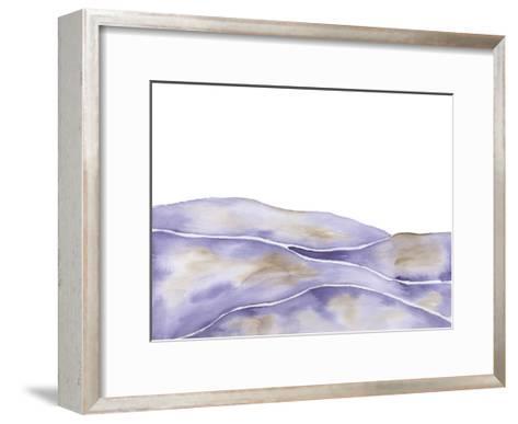 Lavender Seas 1-Pam Varacek-Framed Art Print