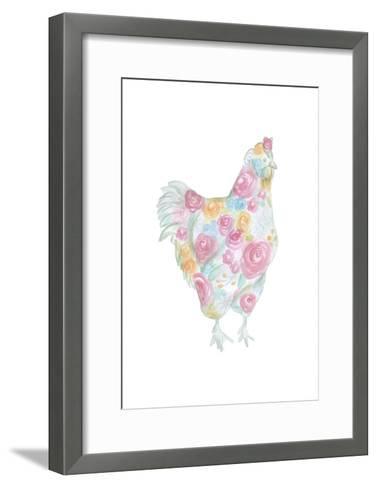 Floral Hen-Pam Varacek-Framed Art Print