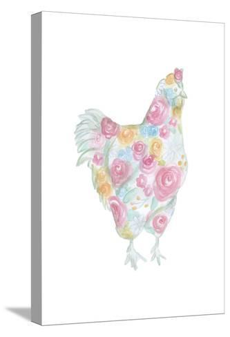 Floral Hen-Pam Varacek-Stretched Canvas Print