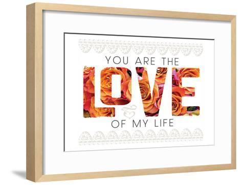 Wedding Typo Lace 1-Melody Hogan-Framed Art Print