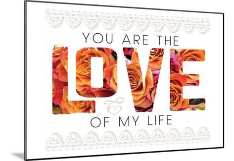 Wedding Typo Lace 1-Melody Hogan-Mounted Art Print