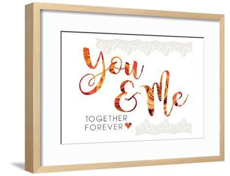 Wedding Typo Lace 4-Melody Hogan-Framed Art Print