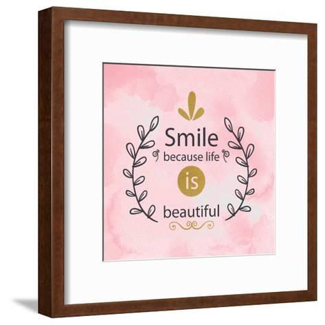 LIfe is Beautiful-Kimberly Allen-Framed Art Print
