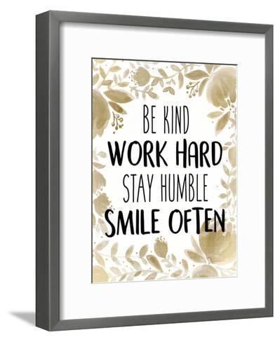 Stay Humble 1-Kimberly Allen-Framed Art Print
