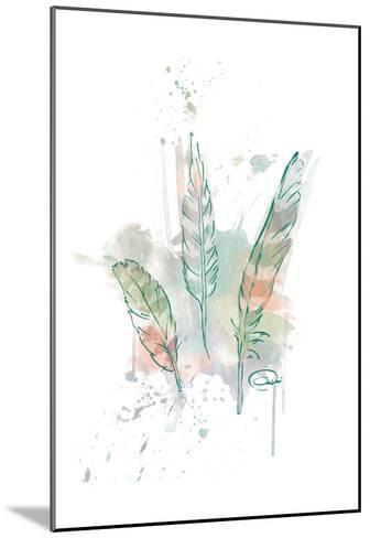 Three Feathers Wild-OnRei-Mounted Art Print