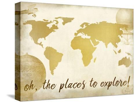 Oh the Places-Kimberly Allen-Stretched Canvas Print