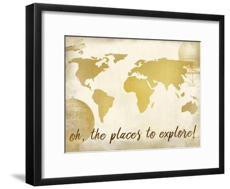 Oh the Places-Kimberly Allen-Framed Art Print
