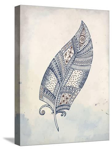 Feather Henna 2-Kimberly Allen-Stretched Canvas Print