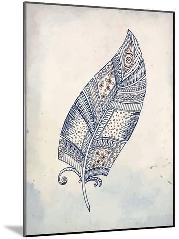 Feather Henna 2-Kimberly Allen-Mounted Art Print