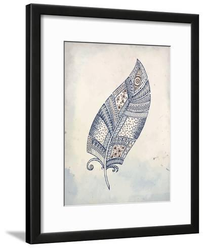 Feather Henna 2-Kimberly Allen-Framed Art Print