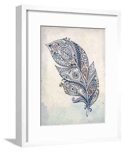 Feather Henna 1-Kimberly Allen-Framed Art Print