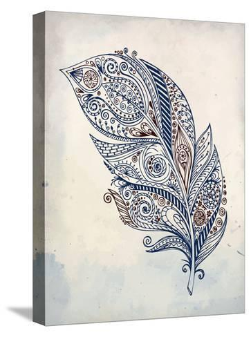 Feather Henna 1-Kimberly Allen-Stretched Canvas Print