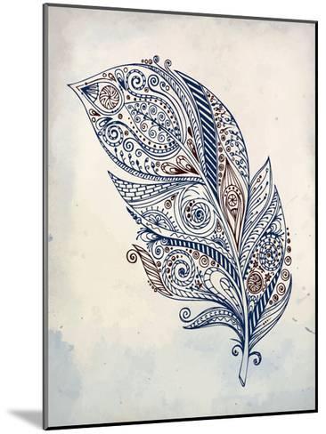 Feather Henna 1-Kimberly Allen-Mounted Art Print