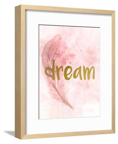 Pink Feathered 4-Kimberly Allen-Framed Art Print