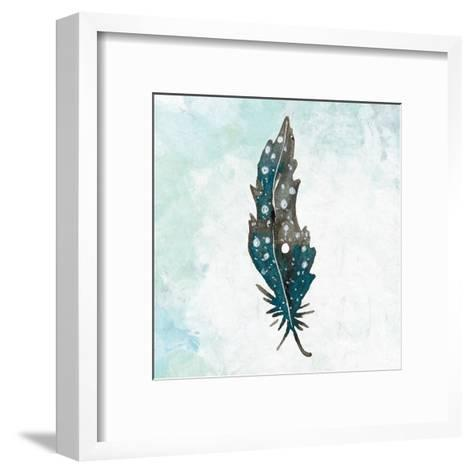 Feathered Blues 1-Kimberly Allen-Framed Art Print