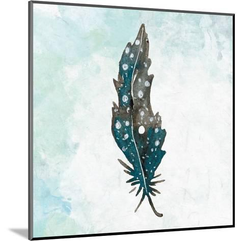 Feathered Blues 1-Kimberly Allen-Mounted Art Print