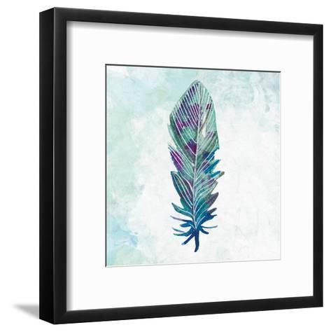 Feathered Blues 3-Kimberly Allen-Framed Art Print
