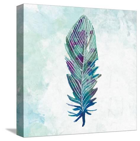 Feathered Blues 3-Kimberly Allen-Stretched Canvas Print