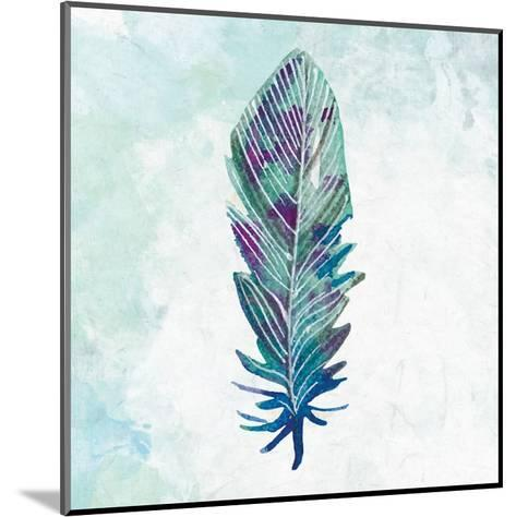 Feathered Blues 3-Kimberly Allen-Mounted Art Print