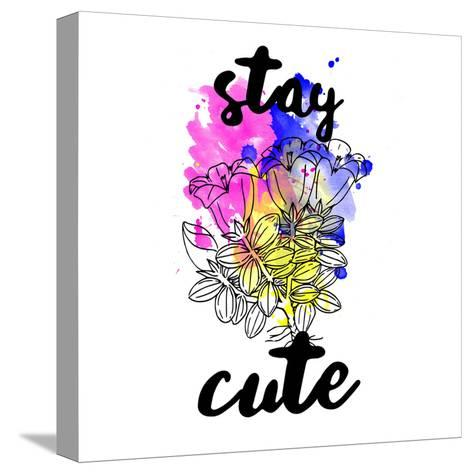 Stay Cute Splash-Jelena Matic-Stretched Canvas Print