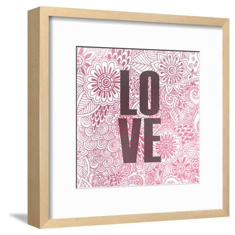Pink Love-Kimberly Allen-Framed Art Print