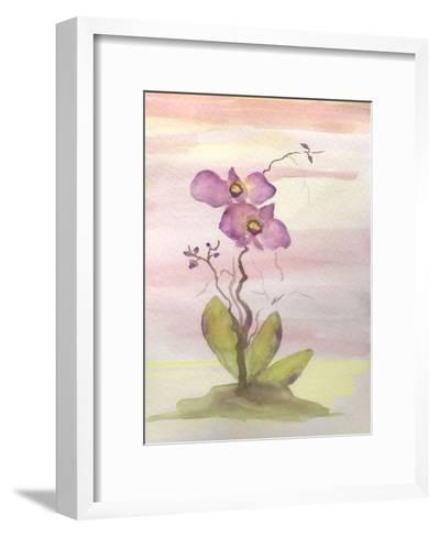 Orchid Trio 1-Debbie Pearson-Framed Art Print